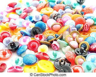 various sewing buttons