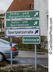 various signs in a commune
