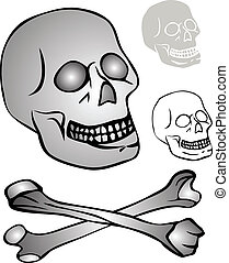 various skulls - vector
