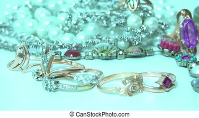 Various sparkling jewelry