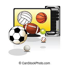Various sports balls