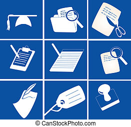 various stationery icons