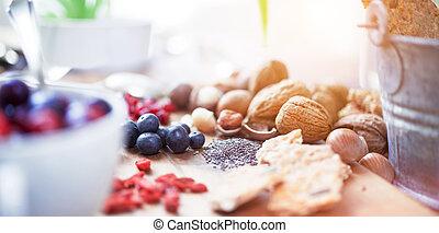 Various superfoods - superfood - Superfood: variation of ...