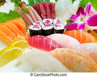 Various Sushi Close-up