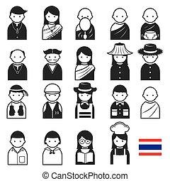 Various Thai People Occupation