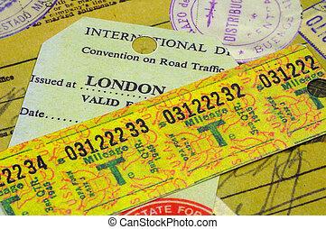 Various Travel Receipts
