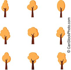 Various tree set of vector flat