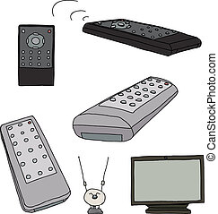 Various TV Remote Controls