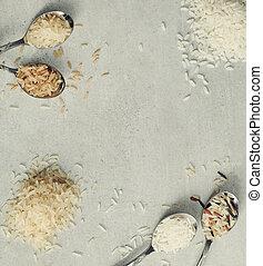 Various type of rice