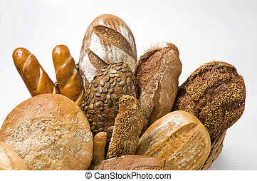 Various types of bread