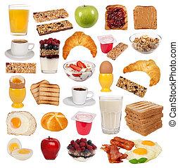 Various types of breakfast