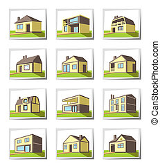 Various types of houses