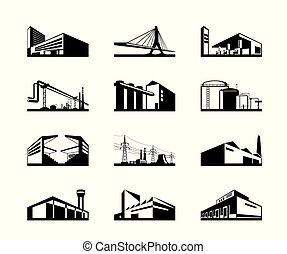 Various types of industrial construction