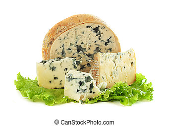 Roquefort cheese - Various types of Roquefort cheese and...