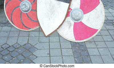 Various Types of Shields - Various types of medieval war...