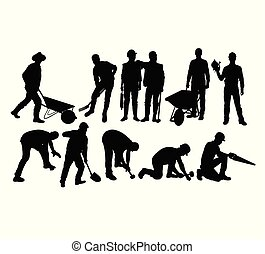 Various Types of Silhouettes for Working People