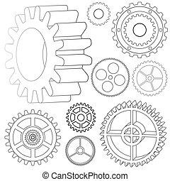 various vector gears