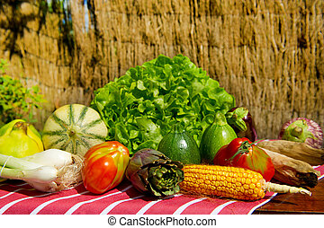 Various vegetables and fruit
