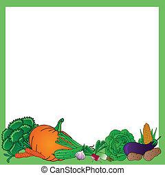 Various vegetables frame
