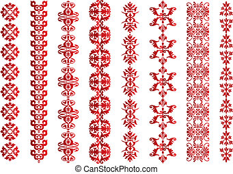Various Victorian borders isolated on white, useful for...