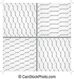 Various wire fence design set of four