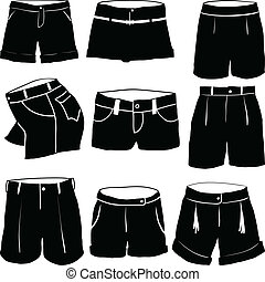 Various womens shorts