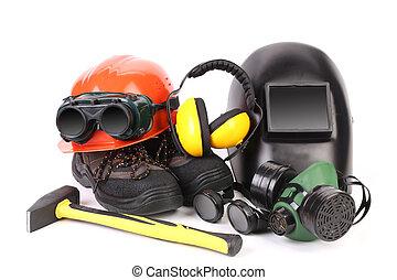 Various working equipment.