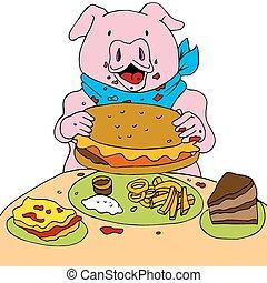 varken, hongerige