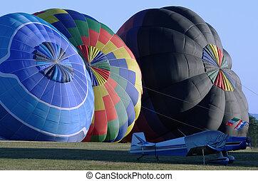 varm,  balloon, luft