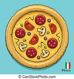 varm, pizza