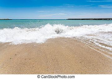 Varna beach on Black sea