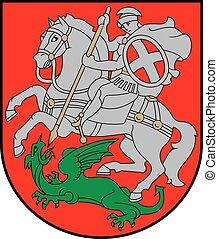 Varniai city coa - Various vector flags, state symbols,...