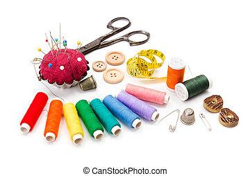 varrás, segédszervek, színes