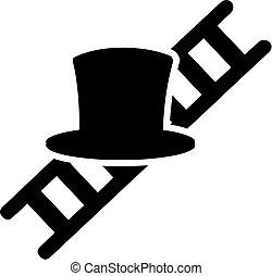varredor, chapéu, escada, chaminé