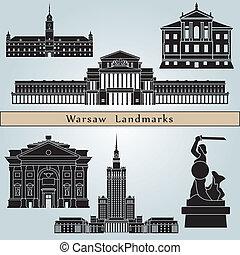 varsavia, limiti, e, monumenti
