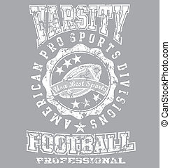 Varsity champ - illustration for shirt printed and poster