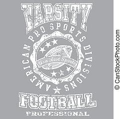 Varsity champ - illustration for shirt printed and poster