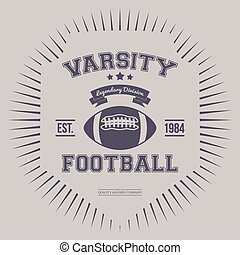 Varsity College Print Vector Illustration - Varsity College...