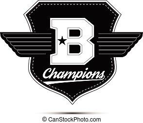 Varsity college university champions division team sport...