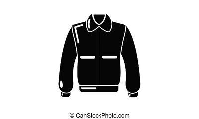 Varsity jacket icon animation simple best object on white