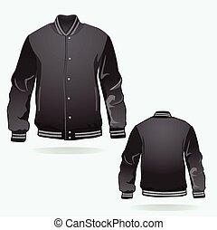 sports or varsity jacket template vector