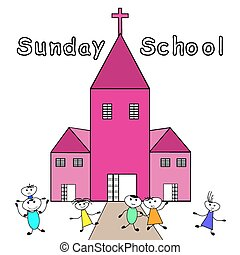 vasárnap, schoo