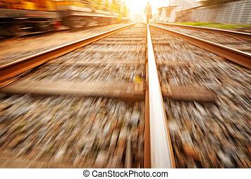 vasút, a parkban