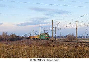 vasút kíséret, mozgató, rakomány