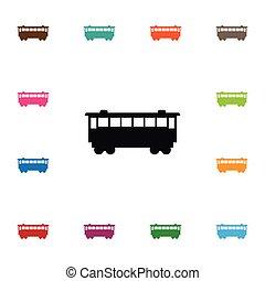 vasút, lenni, használt, kiképez, concept., elszigetelt, vektor, elem, kiképez, tervezés, konzerv, vasút, icon., szállít