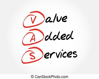 vas, -, 價值, 增加, 服務