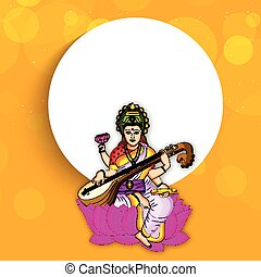Vasant Panchami background - Illustration of elements for...