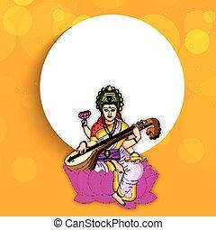 Vasant Panchami background - Illustration of elements for...