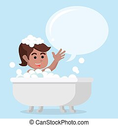 vasca bagno, ragazza, callout, africano