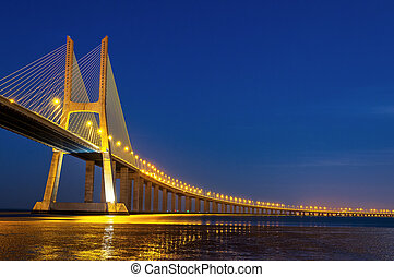 Vasco da Gama bridge, Lisbon, Portugal - Vasco da Gama...